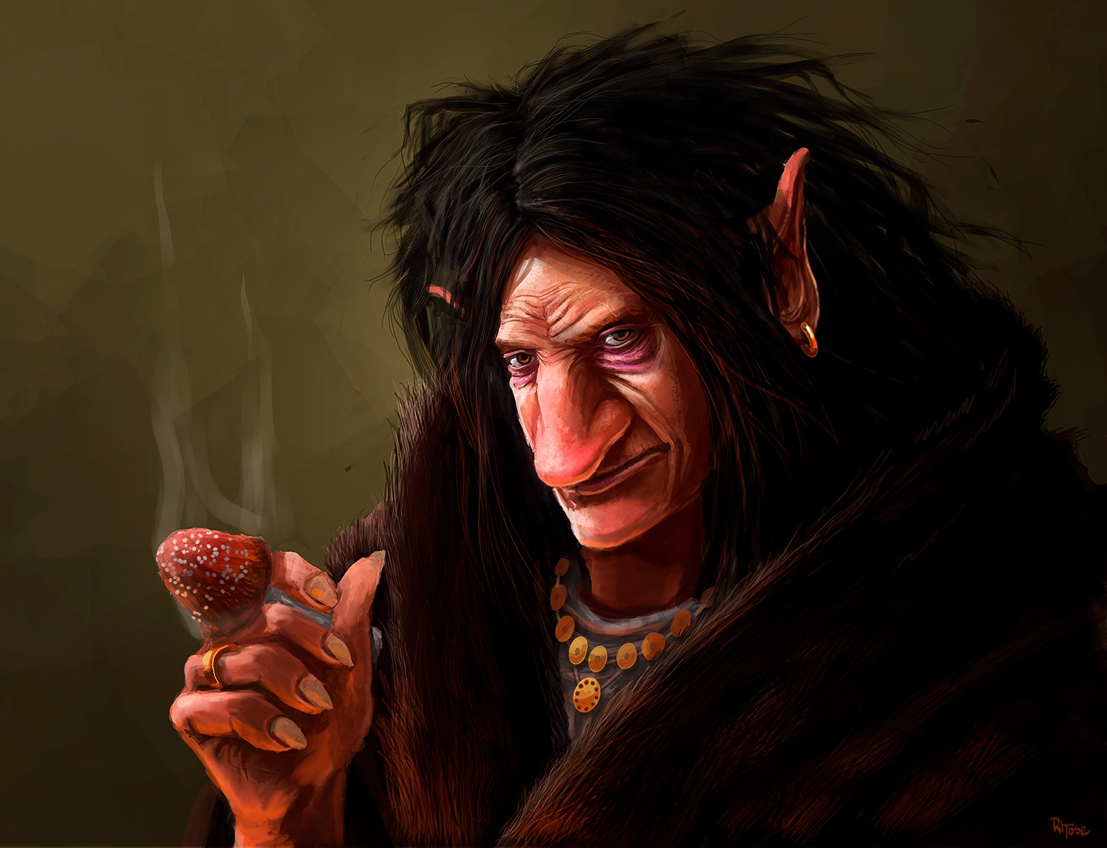 Portrait of a Troll (with Fly Agaric)
